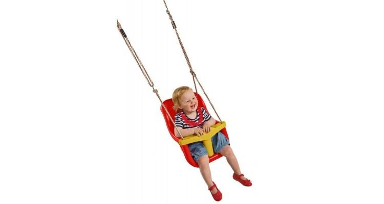 Leagan pentru copii Luxe PP rosu galben imagine 2021 kivi.ro