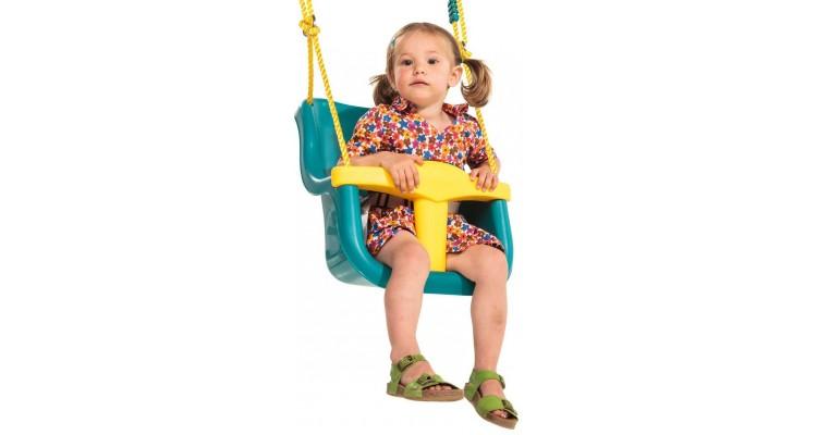 Leagan pentru copii Luxe PP galben - turcoaz imagine 2021 kivi.ro