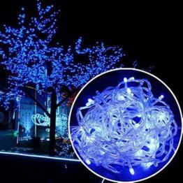 Instalatie de Craciun, tip liniara, 20 m cu 200 leduri, albastru