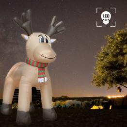 Ren gonflabil XXL de Craciun, LED-uri, 500 cm