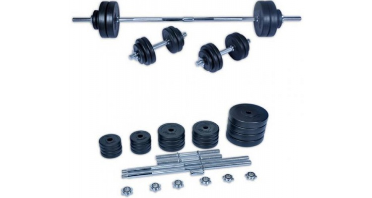 Set haltera si gantere Fittronic 50 kg