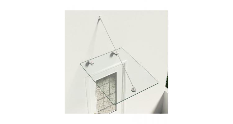 Copertina sticla securizata vsg pentru intrare, 90x75 cm, otel poza kivi.ro