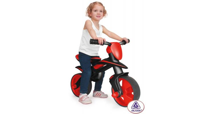 Bicicleta fara pedale neagra Injusa Jumper (INJ501) imagine 2021 kivi.ro