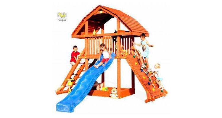 Complex de joaca din lemn Fungoo Giant imagine 2021 kivi.ro