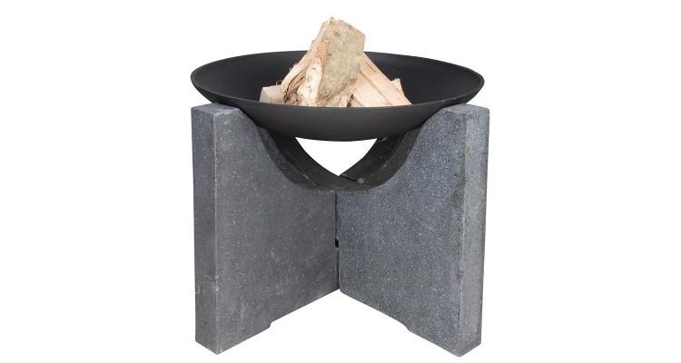 Bol pentru foc cu suport de granit poza kivi.ro