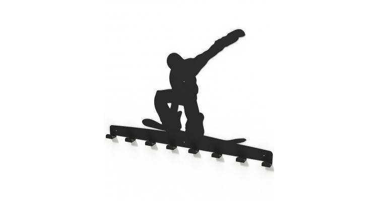 Cuier metalic SNOWBOARDER -model 4042 Negru