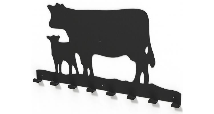 Cuier metalic ANIMALE de FERMA -model 4018 Negru imagine 2021 kivi.ro