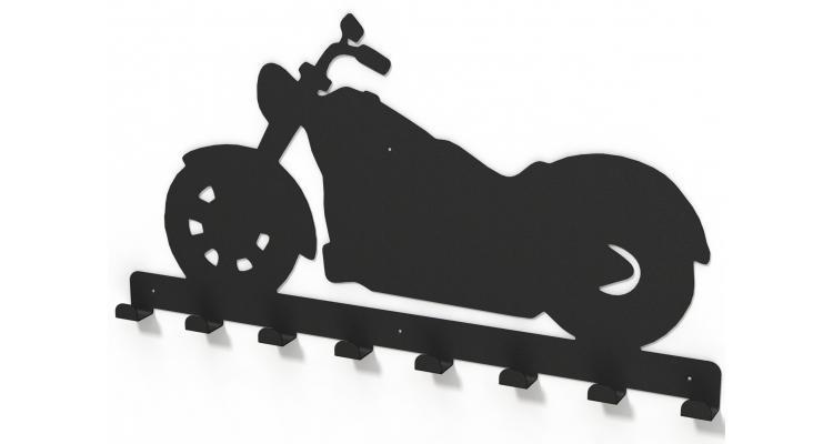 Cuier metalic CHOPPER -model 4016 Negru poza kivi.ro