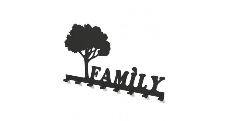 Cuier metalic COPACUL FAMILIEI -model 3017 Negru imagine 2021 kivi.ro