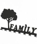 Cuier metalic COPACUL FAMILIEI -model 3017 Negru