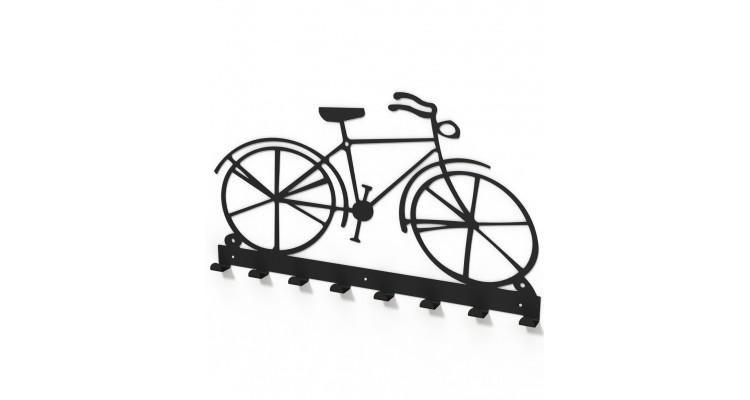Cuier metalic forma bicicleta vintage -model 2104 Negru imagine 2021 kivi.ro