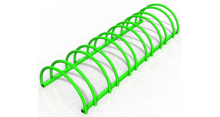 Rastel suport stradal bicicleta cu 6 sloturi -model 0022-6 Verde crud imagine 2021 kivi.ro