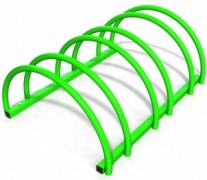 Suport rastel biciclete cu 3 sloturi -model 0022-3 Verde crud