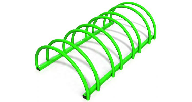 Suport rastel biciclete cu 4 sloturi -model 0022-4 Verde crud poza kivi.ro