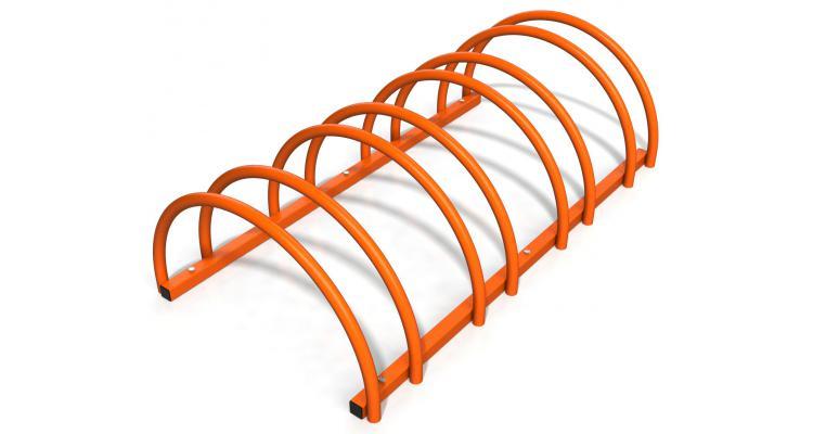 Suport rastel biciclete cu 4 sloturi -model 0022-4 Portocaliu