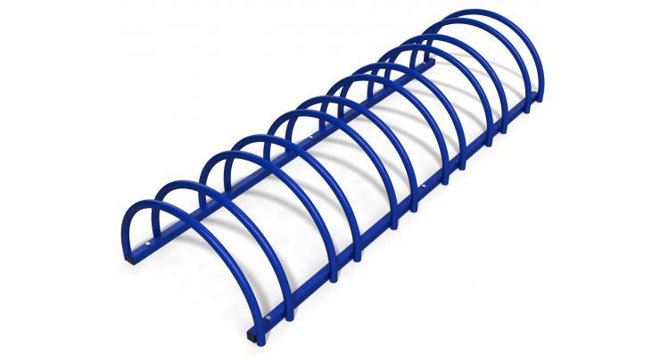 Rastel suport stradal bicicleta cu 6 sloturi -model 0022-6 Albastru