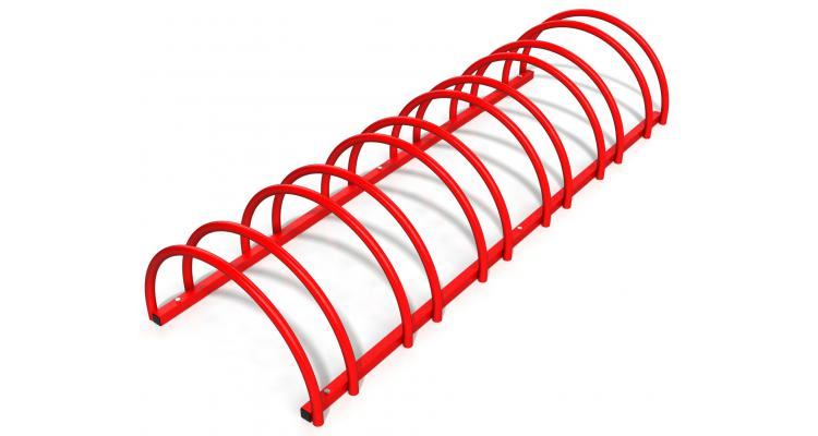 Rastel Suport Stradal Bicicleta Rosu Imagine