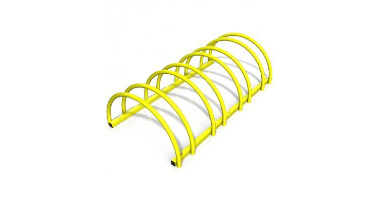 Suport rastel biciclete cu 4 sloturi -model 0022-4 Galben poza kivi.ro