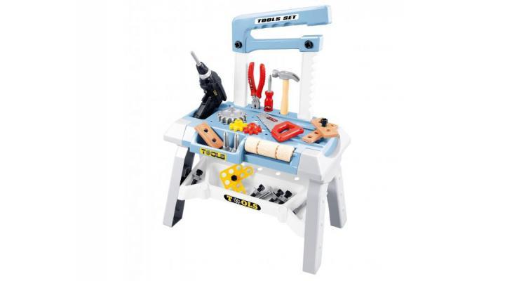 Banc de lucru AliBibi cu unelte si accesorii electrice poza kivi.ro