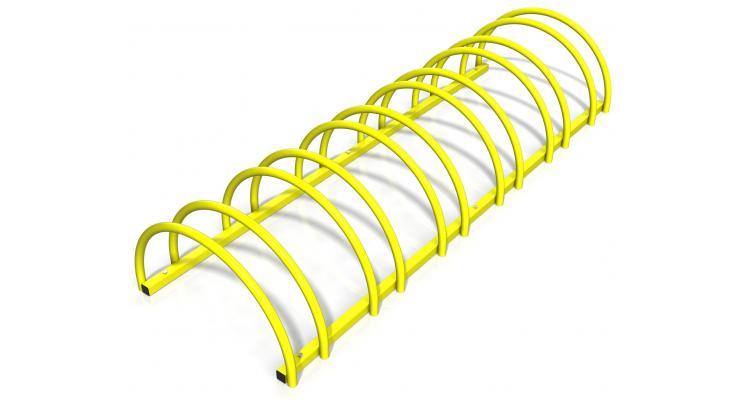Rastel suport biciclete cu 6 sloturi -model 0022-6 Galben imagine 2021 kivi.ro