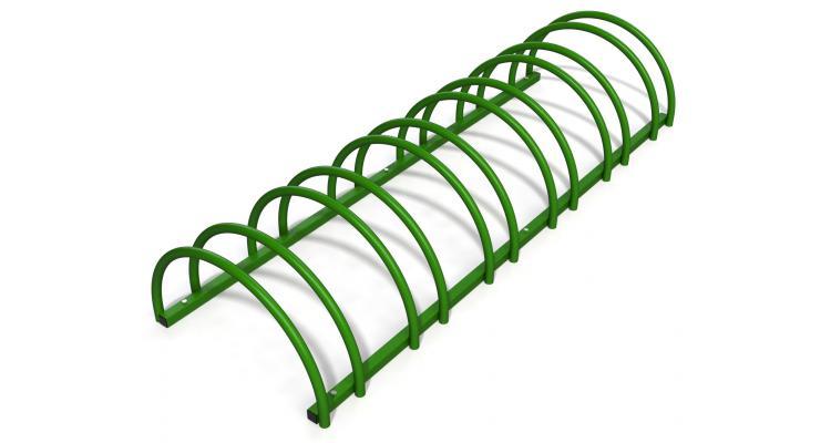 Rastel suport biciclete cu 6 sloturi -model 0022-6 Verde padure