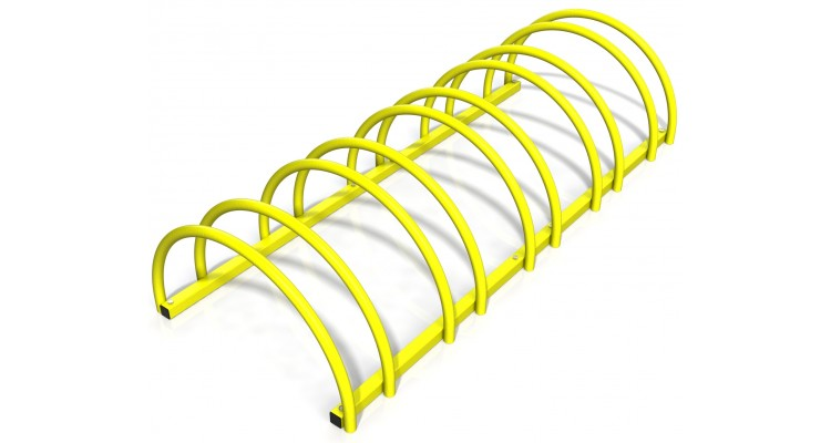 Suport rastel bicicleta cu 5 sloturi -model 0022-5 Galben poza kivi.ro