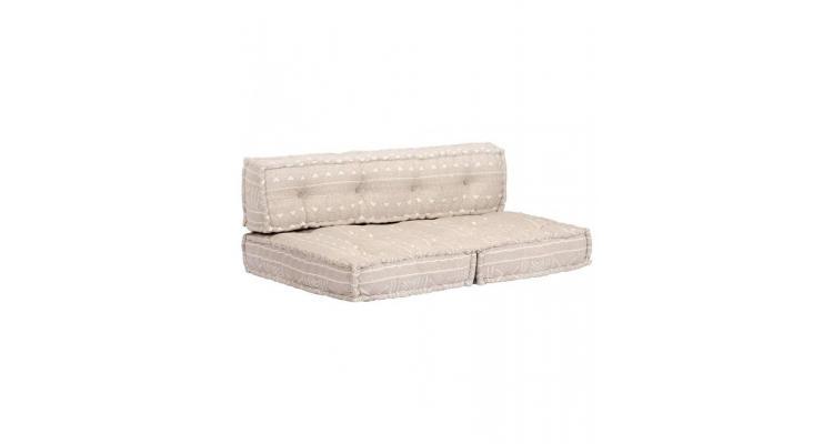Perna pentru canapea din paleti, bej, textil, petice poza kivi.ro