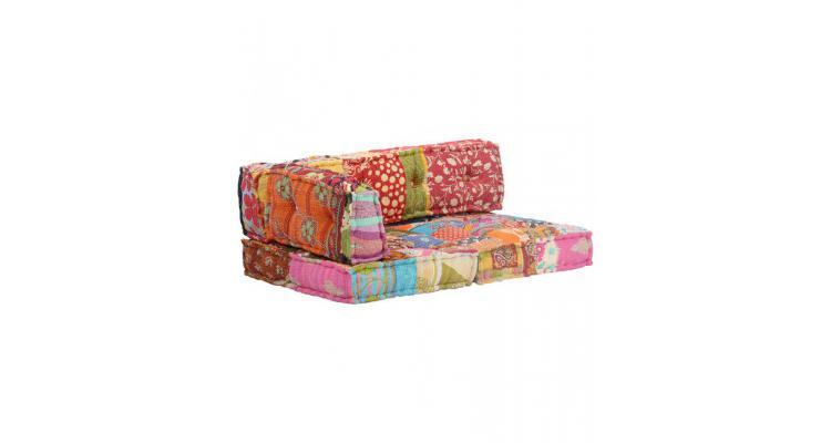 Perna pentru canapea din paleti, multicolor, textil, petice poza kivi.ro