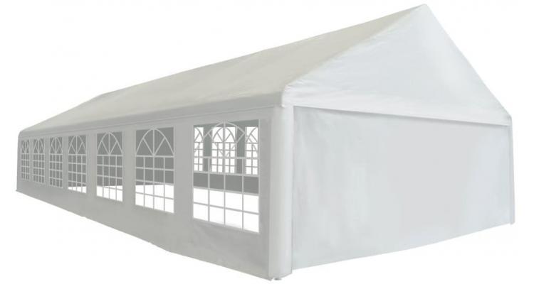 Cort de petrecere, polietilena, 6x14 m, alb