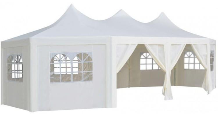 Pavilion, alb, 834 x 448 x 320 cm poza kivi.ro