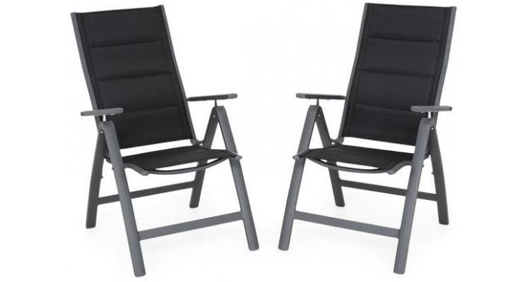 Set 2 scaune cu spatar reglabil EASY negru poza kivi.ro