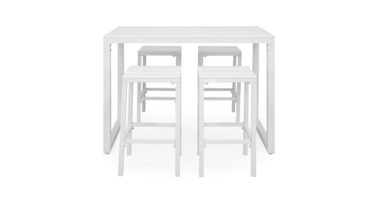 Set ESCALE cu 4 scaune bar, masa bar