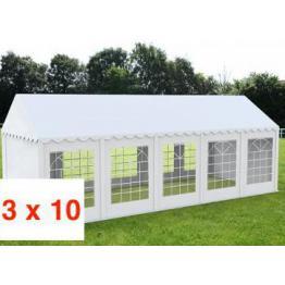 CORT EVENIMENTE ECONOMY 3 X 10 m, PVC ALB