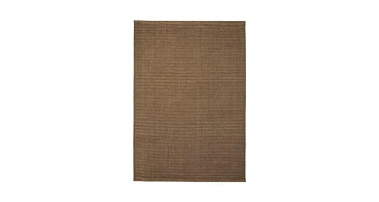 Covor aspect sisal de interior/exterior 160x230 cm maro poza kivi.ro