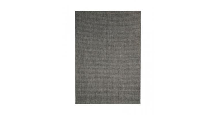 Covor aspect sisal de interior/exterior, 120x170 cm, gri inchis poza kivi.ro