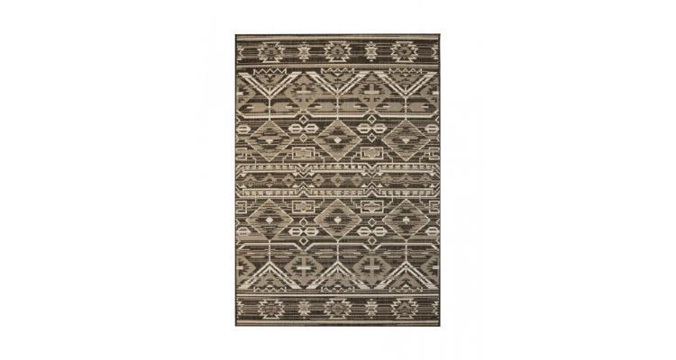 Covor aspect sisal de interior/exterior, 140x200 cm, geometric poza kivi.ro