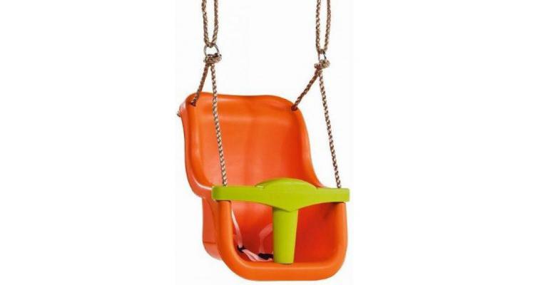 Leagan pentru copii Luxe PP portocaliu - verde lime imagine 2021 kivi.ro