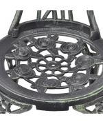 Set bistro din 3 piese, cadru din aluminiu,Negru- Verde
