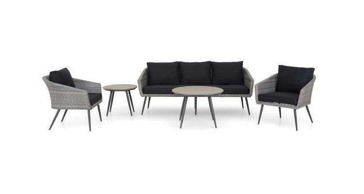 Set mobilier Lagoon de gradina cu 2 fotolii, canapea si 2 masute imagine 2021 kivi.ro