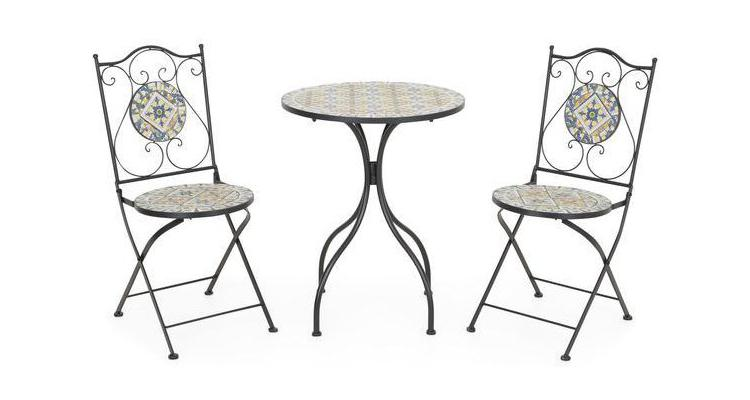 FLORALS Set 2 scaune pliabile si masuta imagine 2021 kivi.ro