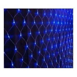Instalatie plasa alb rece, albastru si multicolor, 2m/2m, 160 led-uri