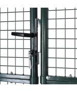 Poarta gard dubla din otel acoperit cu pulbere