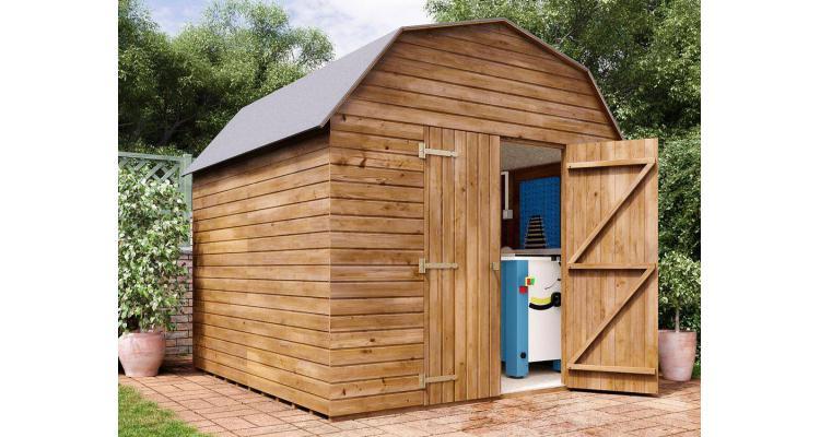Magazie din lemn tratat Dutch Barn, 2.59x2.5, Dunster House imagine 2021 kivi.ro