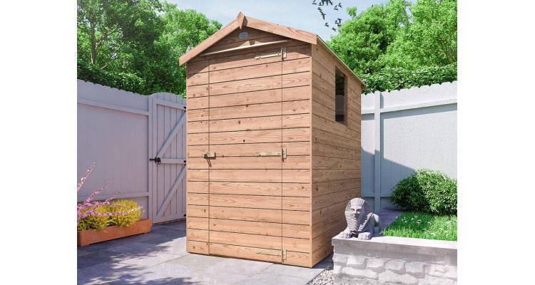 Magazie din lemn tratat Shedrick, 1.35x1.9m, Dunster House poza kivi.ro
