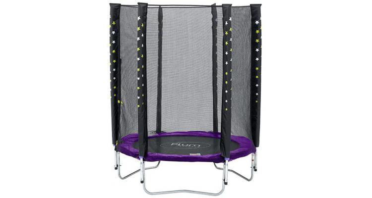 Set Trambulina Cu Plasa De Protectie Junior 140 Cm PLUM imagine 2021 kivi.ro
