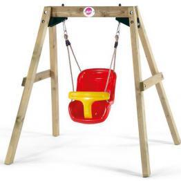 Leagan bebelusi din lemn Baby Swing Plum