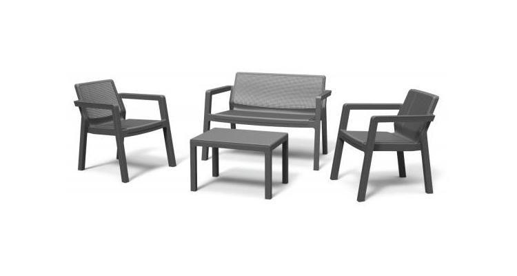Set mobilier de gradina Emily Patio, gri