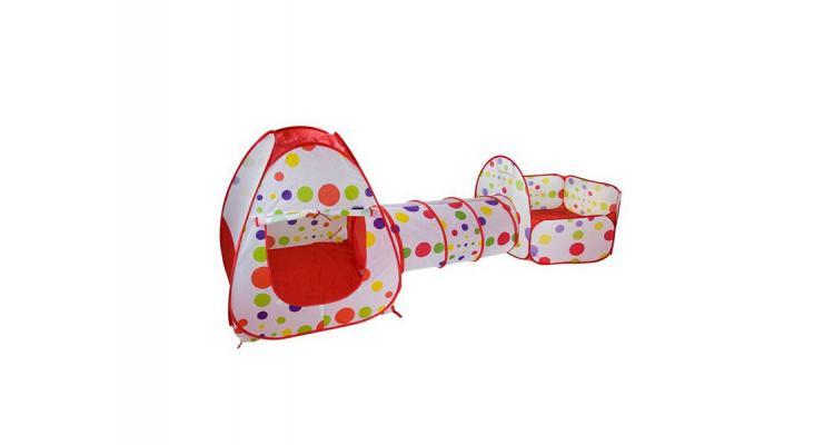 Set cort de joaca pentru copii 3 in 1 Alibibi cort, tarc si tunel poza kivi.ro