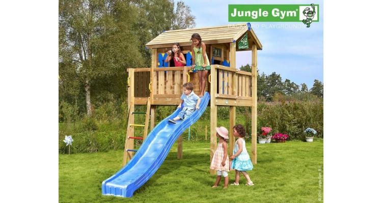 JUNGLE GYM PLAYHOUSE XL CU CASUTA DIN COPAC imagine 2021 kivi.ro