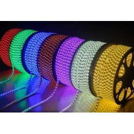 Rola LED Furtun Luminos Flexibil cu FLASH 100m cu alimentator Premium